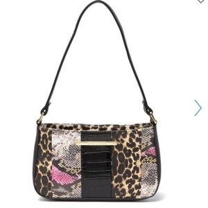 Betsey Johnson mixed print shoulder bag
